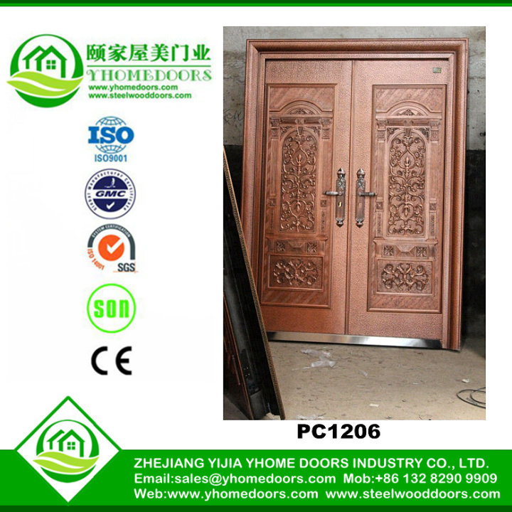 action steel doors,steel framed door,4 panel doors