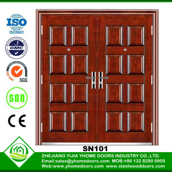 commercial steel double doors,steel access doors,red oak texture wood doors