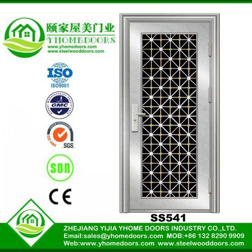 Single stainless steel doors