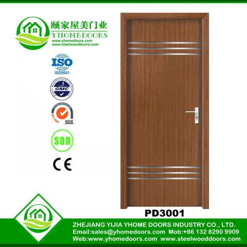 Wooden doors with aluminium