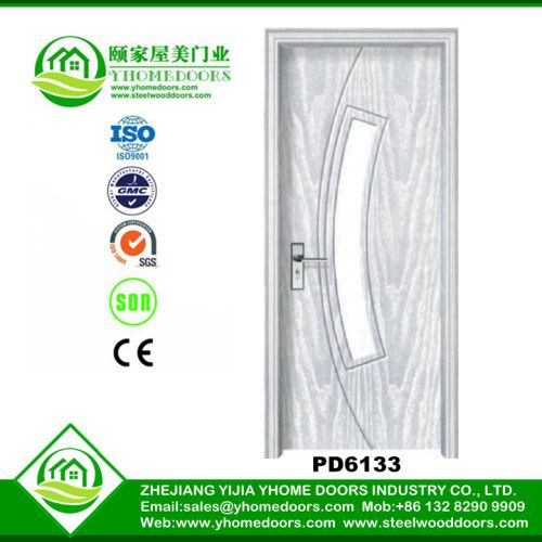 PVC glasses wooden doors
